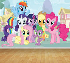 My Little Pony Adhesive Wallpaper Backdrop Feature Wall Mural Decal Large Print Ebay
