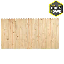 Severe Weather Actual 4 Ft X 8 Ft Pressure Treated Pine Dog Ear Wood Fence Panel At Lowes Com In 2020 Wood Fence Privacy Fence Panels Fence Panels