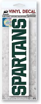 Amazon Com Michigan State University Spartans Car Decal Green Arts Crafts Sewing