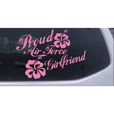 Proud Air Force Girlfriend Hibiscus Flowers Car Or Truck Window Decal Sticker Walmart Com Walmart Com