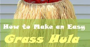 condo blues how to make a grass hula skirt