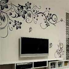 Classical Black Flower Wall Art Sticker Living Room Floral Wall Stickers Home Decorations Wall Decals 44 X 33 8cm Decal Stickers Motorcycle Sticker Decalsticker Decor Aliexpress