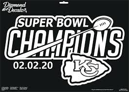 Kansas City Chiefs Vinyl Decal Super Bowl Champions Car Window Nfl Football New Diamonddecalz In 2020 Car Decals Vinyl Gold Vinyl Decals Vinyl Decals