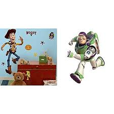 Roommates Toy Story Woody Giant Peel And Stick Wall Decal And Roommates Toy Story Buzz Giant Peel And Stick Wall Decal Walmart Com Walmart Com