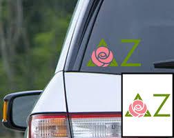 Delta Zeta Sorority Decal Dz Car Window Sticker By Preppycentral Delta Zeta Delta Zeta Sorority Sorority Decals