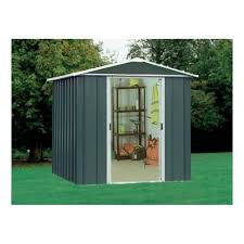 yardmaster titan metal apex shed 6x4ft
