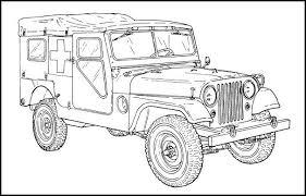 M170 Ambulance For The Jeep Coloring Book Auto Tekeningen