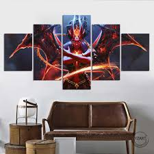 Queen Of Pain Arcana Dota 2 Eminence Of Ristul Game Poster Pictures Fantasy Wall Art Home Decor Painting Calligraphy Aliexpress