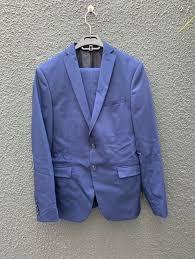 men s navy zara slim fit suit
