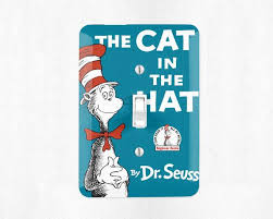 The Cat In The Hat Light Switch Cover Light Switch Plate Wall Plate Dr Define Design 11