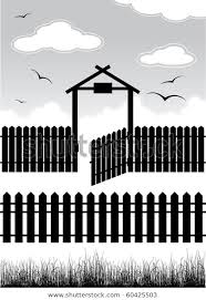 Black Fence Gate Elements Design Vector Stock Vector Royalty Free 60425503