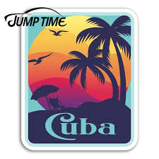 Jump Time For Cuba Vinyl Stickers Sunset Cuban Travel Sticker Laptop Luggage Car Decal Window Wiper Trunk Car Styling Car Stickers Aliexpress