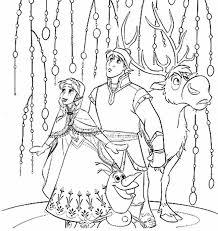 Kleurplaat Frozen 2 Elsa Kristoff Olaf En Sven 12