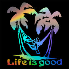 Life Is Good Vinyl Decal Beach Relax Life Fun Sticker Car Window Bumper Decor Ebay
