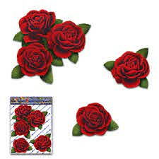 Flower Red Roses Small Vinyl Pack Decal Car Stickers St066rd 1 Australia Made Ebay