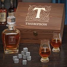 bourbon decanter set personalized