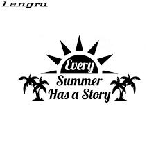 Langru Every Summer Has A Story Adventure Car Laptop Caravan Bus Vinyl Decal Sticker Car Accessories Jdm Car Stickers Aliexpress