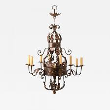 french iron chandelier with old world look