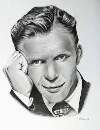 Frank Sinatra Pencil Portrait Drawing by Adriana Holmes | Saatchi Art