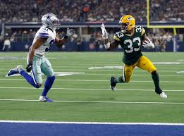 Packers RB Aaron Jones could be fined for waving at Cowboys CB Byron Jones  during TD celebration