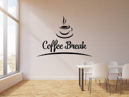 Vinyl Wall Decal Coffee Break Room Cafe And Drink Cup Stickers Mural Wallstickers4you