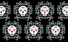 45 day of the dead wallpaper on