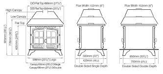 herald 8 double sided woodburning stove