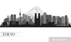 Tokyo City Skyline Silhouette Wall Mural Pixers We Live To Change