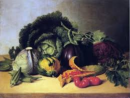 James Peale Still Life Balsam Apples And Vegetables Wall Decal Farmhouse Wall Decals By Art Megamart
