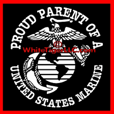 Proud Parent Of A Us Marine Car Truck Decal Stickers T Shirts