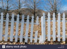 Broken Picket Fence High Resolution Stock Photography And Images Alamy