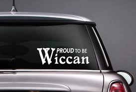 Wiccan Proud Vinyl Car Decal Pagan Wiccan Pride Sticker Etsy