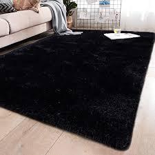 Amazon Com Yj Gwl Soft Shaggy Area Rugs For Bedroom Fluffy Living Room Rugs Anti Skid Nursery Girls Carpets Kids Home Decor Rugs 4 X 5 3 Feet Black Home Kitchen