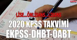 ÖSYM 2020 KPSS Başvuruları Açıklama Tarihleri - Kamu Personeli ...