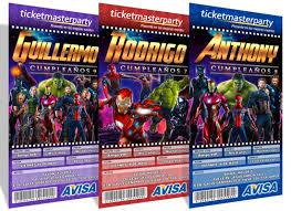 Diseno De Invitaciones Imprimibles Avengers Infinity War 49 00
