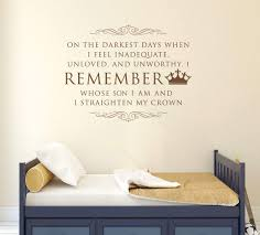 Amazon Com King S Crown Wall Decal On The Darkest Days I Remember Vinyl Home Wall Decor Handmade
