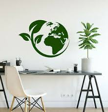 Vinyl Wall Decal Earth Ecology Style Nature Protection Stickers 3932ig Ebay