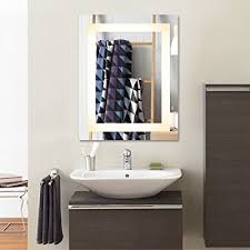led bathroom mirror dimmable rectangle