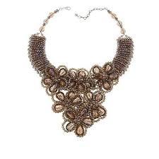 "Rara Avis by Iris Apfel Beaded Stone 17"" Floral Necklace (With images)    Floral necklace, Iris apfel, Necklace"