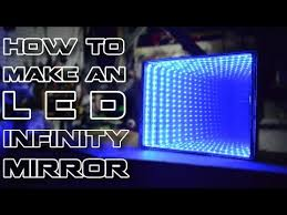 how to make an l e d infinity mirror