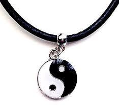 enamelled yin yang ying yan tao leather