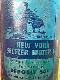 vintage new york seltzer bottle cobalt