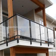 glass frameless glass railing glass