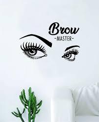 Amazon Com Boop Decals Brow Master Make Up Eyes Wall Decal Sticker Vinyl Art Bedroom Living Room Decor Decoration Teen Girls Beauty Eyes Women Beautiful Lashes Eyelashes Brows Make Up Guru Lips Lipstick