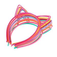 frcolor 10pcs cat bow headband cute