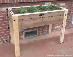 dimensions for elevated planter box