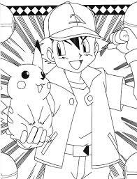 Pokemonkleurplaten Kleurplaat Ash Pickachu Http Www Pokemon