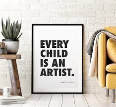 Pablo Picasso Inspirational Motivational Wall Decal Quote Art Home Office Decor