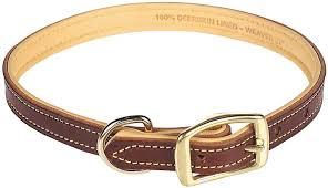 deer ridge leather dog collar weaver