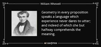 william whewell quote geometry in every proposition speaks a